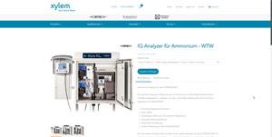 Screenshot der Alyza IQ NH4 Produktdetailseite